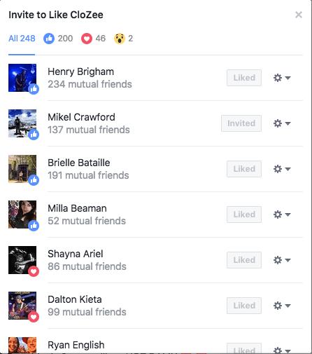 Facebook Page Invite