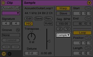 Ableton Complex Warp Mode