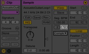 Double Time Ableton Live