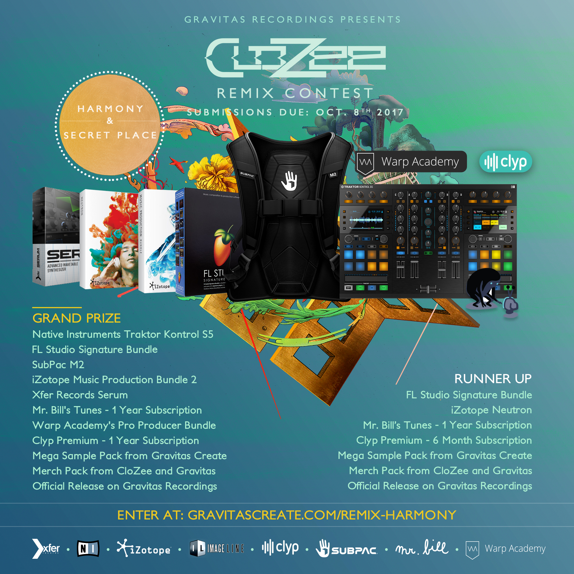 Enter the CloZee Harmony Remix Contest Presented by Gravitas