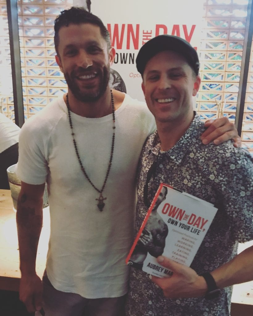 Jesse Brede meets Aubrey Marcus at his book launch