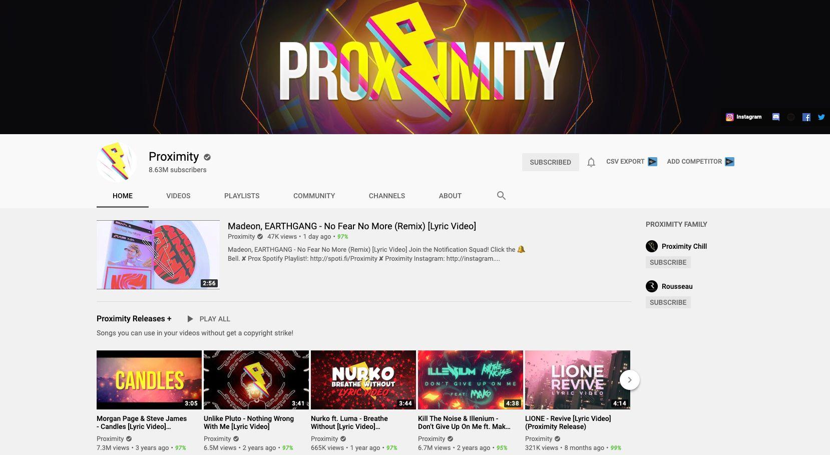 Proximity YouTube
